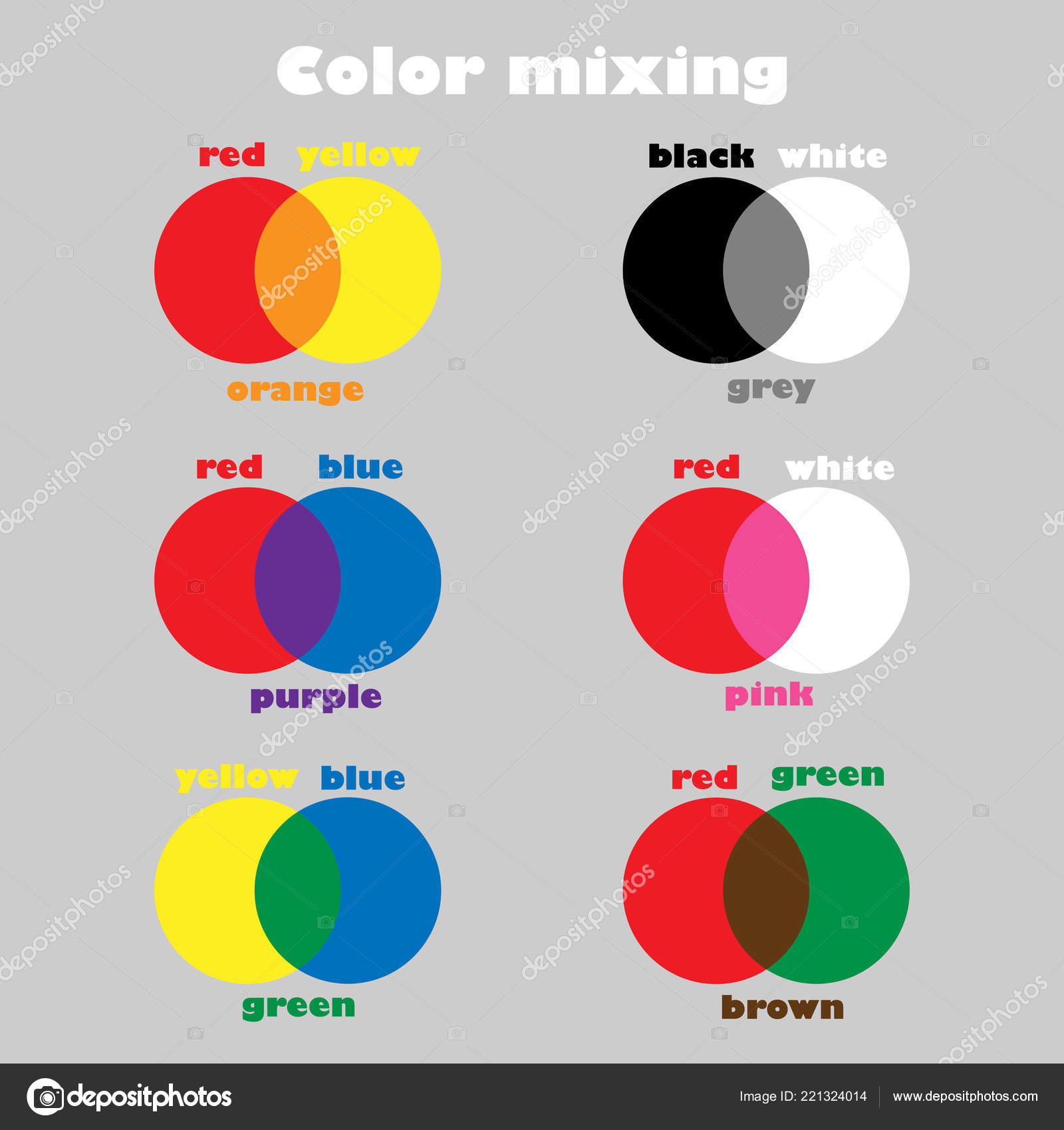 Mixing Colors Preschool Worksheet