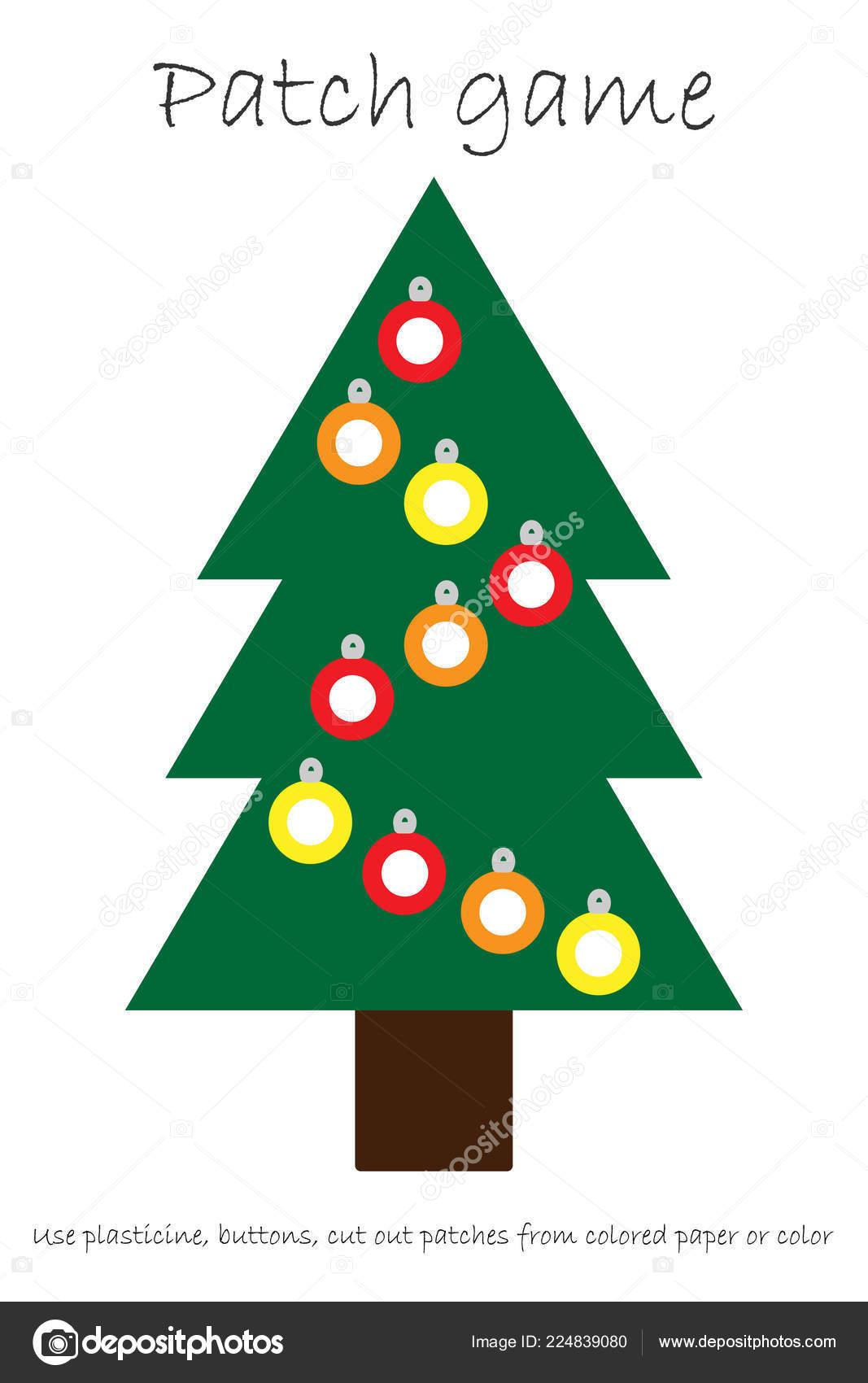 Educacion Parche Juego Arbol Navidad Para Los Ninos