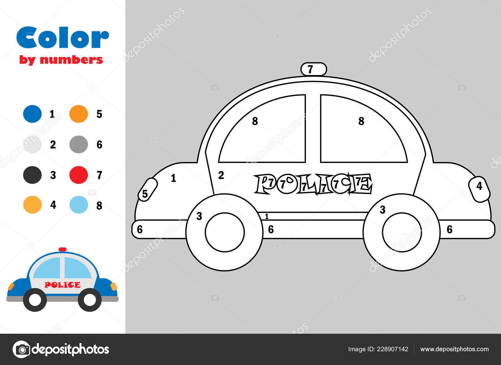 Police Car Printable