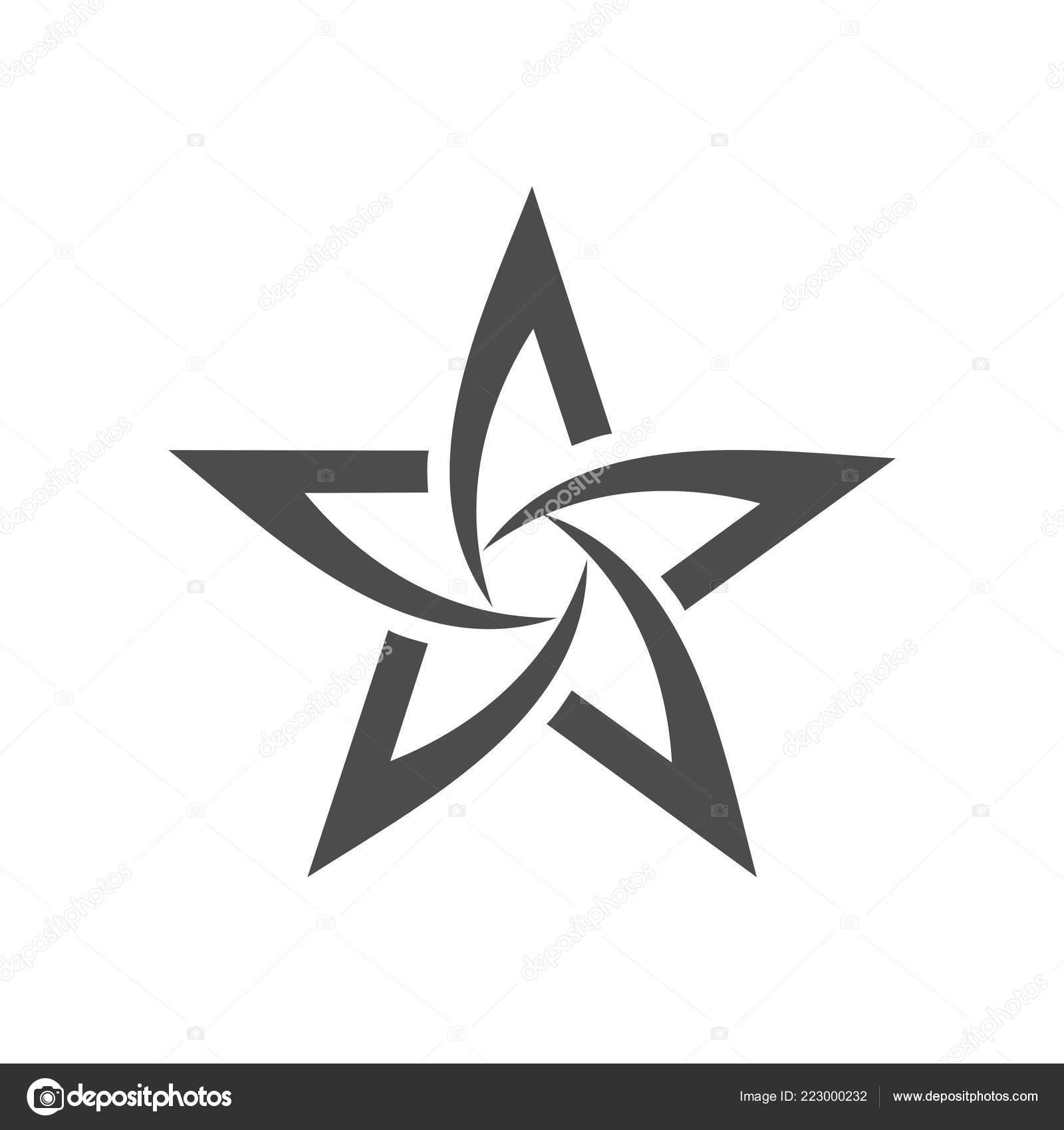Creative Star Shape Logo White Background Stock Vector C Soponyono 223000232