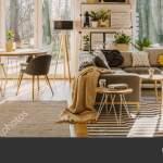 Spacious Living Room Interior Corner Sofa Armchair Next