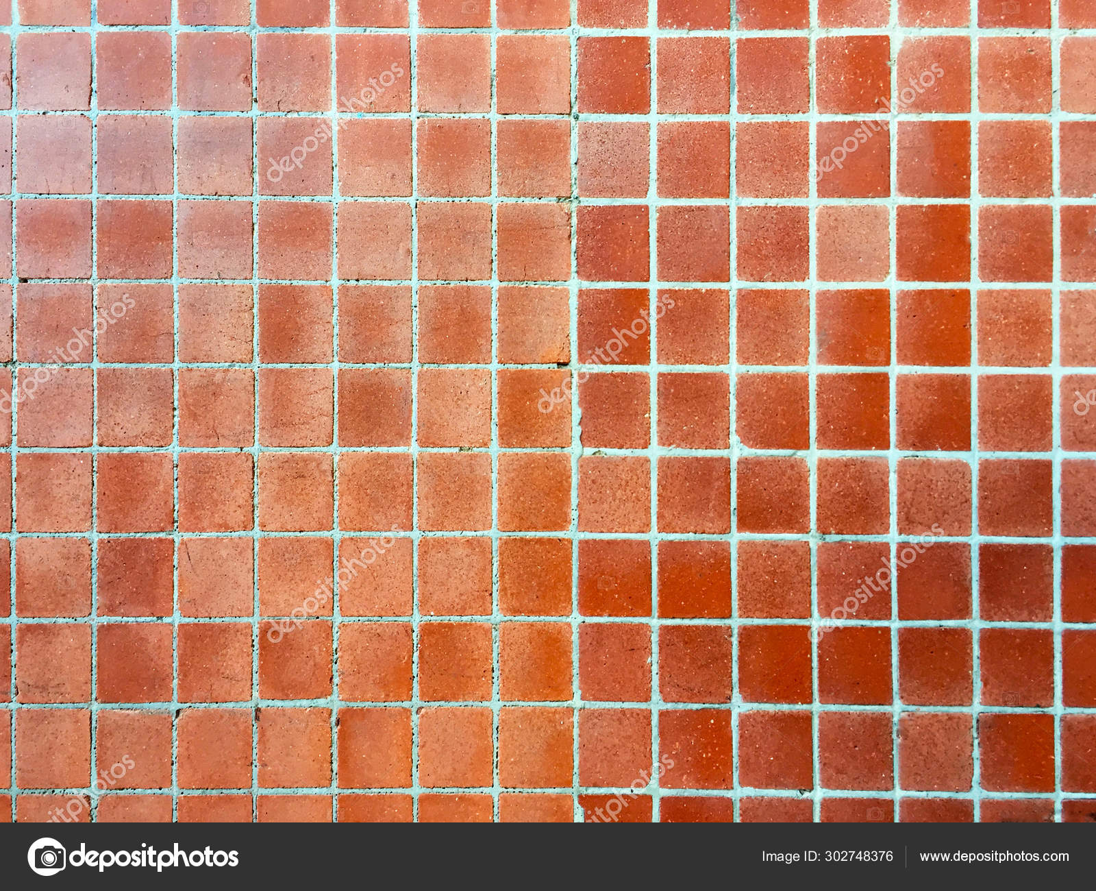 part wall decorated small square mosaic tiles bright brown color stock photo image by c valeriy golovin 302748376