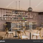 Interior Stylish Bar Restaurant Brick Walls Wooden Floor Wooden Table Stock Photo C Denisismagilov 221107616