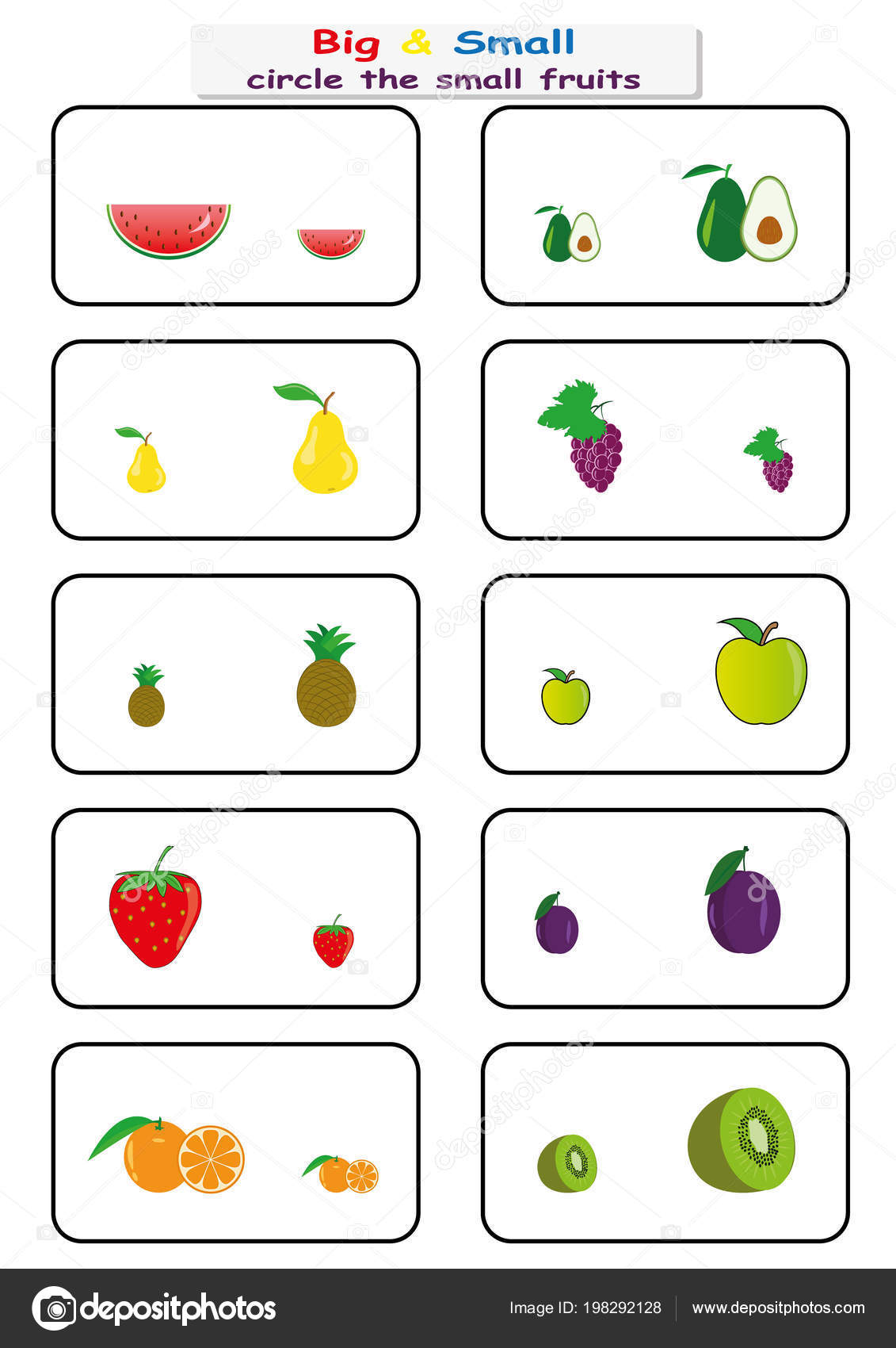 Worksheets For Kindergarten Big And Small
