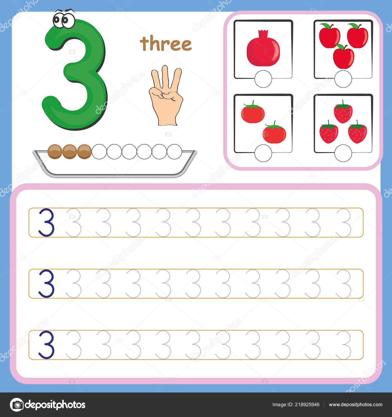 Number Cards Counting And Writing Numbers Learning