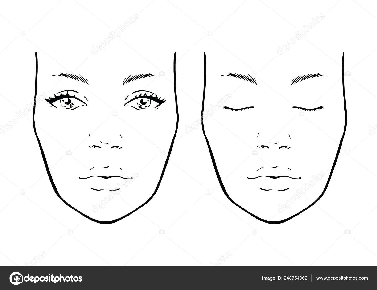 Face Chart Makeup Template