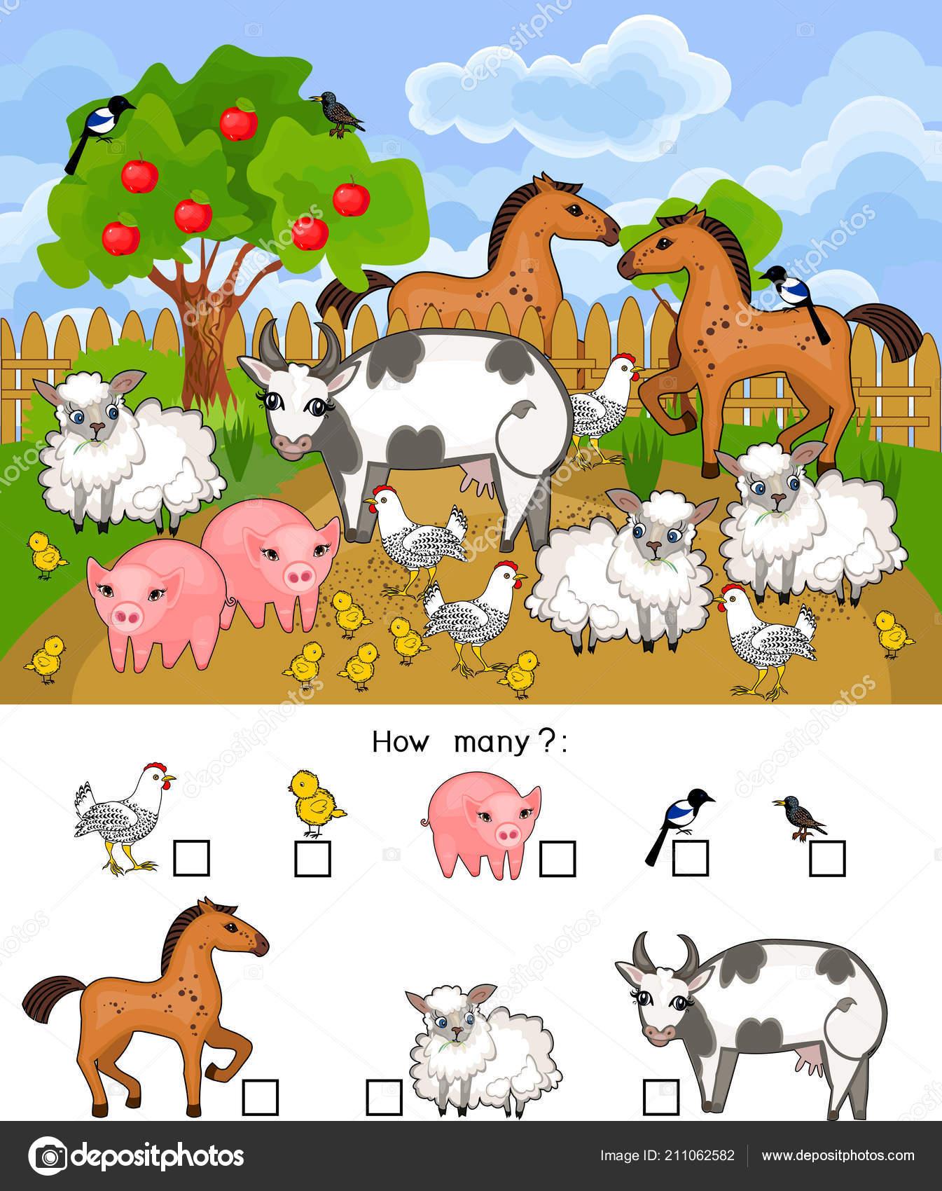 Cuantos Animales Juego Educativo Con Animales Granja