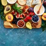 Light Delicious Fruit Cheese Nuts Plateu Easy Party Snack Healthy Stock Photo C Fortyforks 214453240