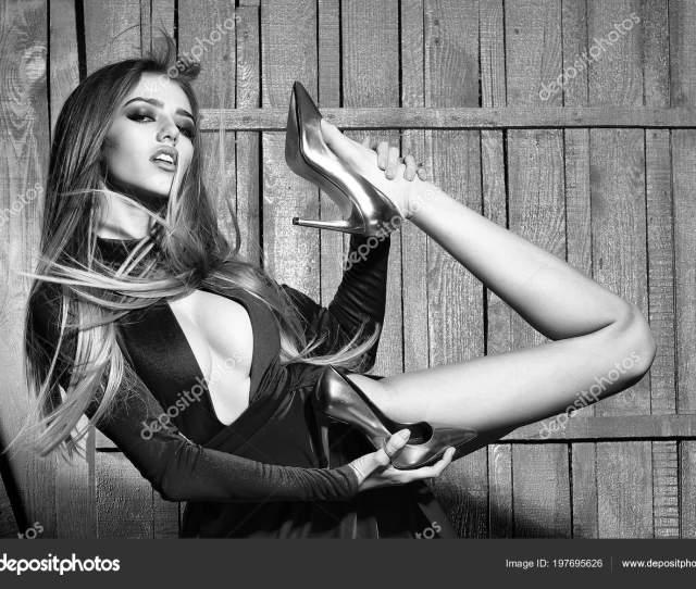 Sensual Sexy Woman Flexible Fashionable Woman Stock Photo