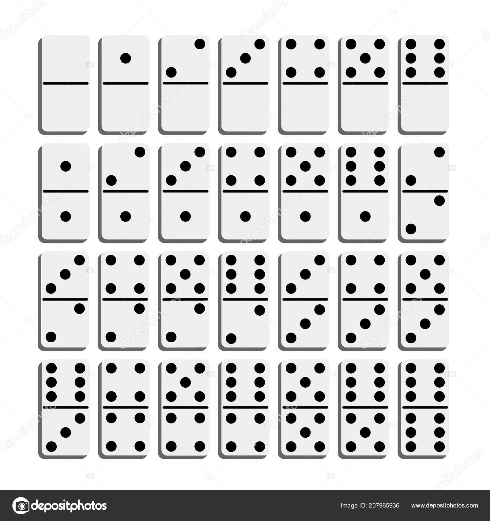 Creative Vector Illustration Of Realistic Domino Full Set