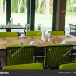 Empty Restaurant Part Of Hotel With Table And Armchair Near Wind Stock Photo C Pookpiik 281460174