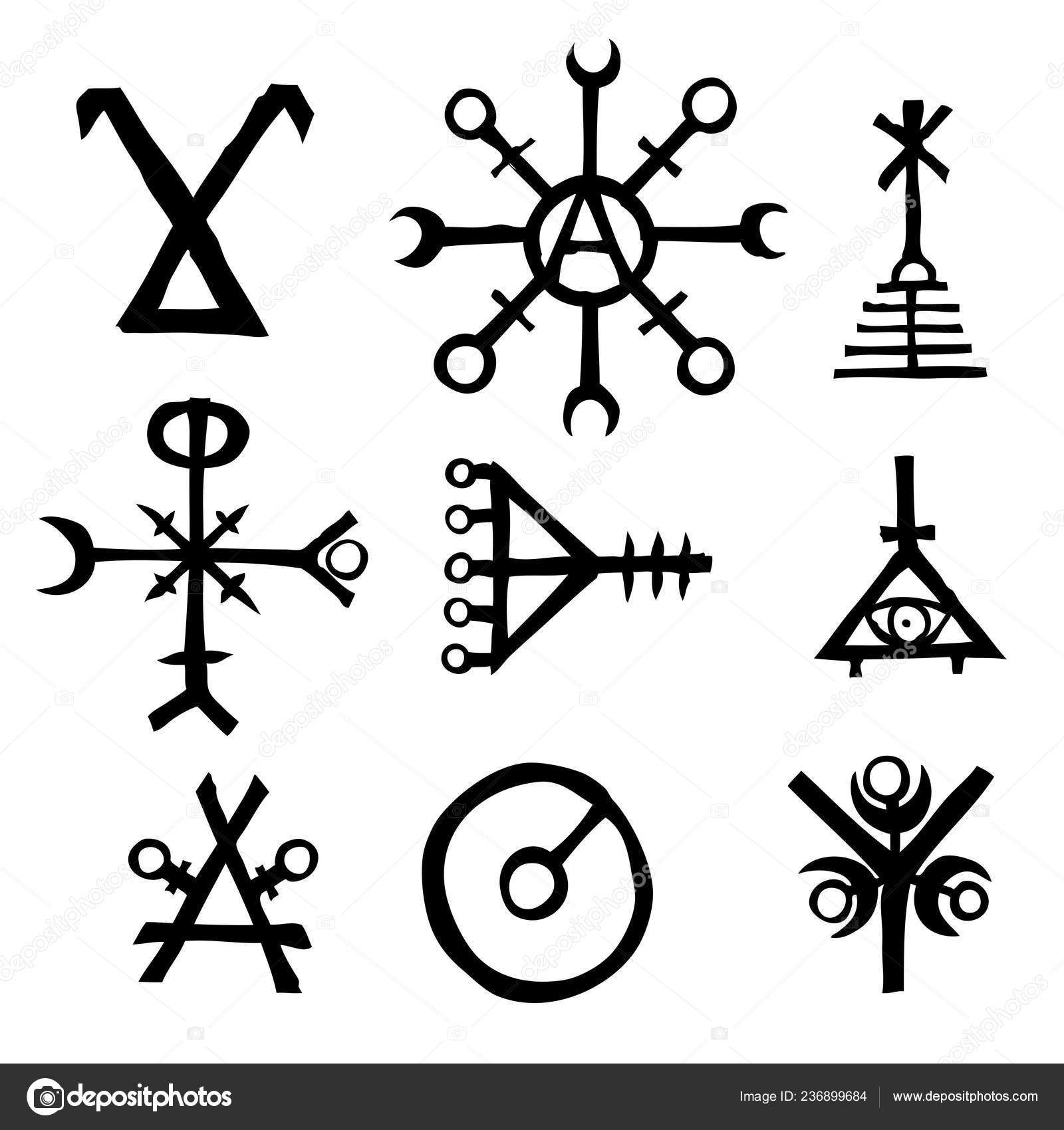 Futhark Norse Island Viking Symbol Set Imaginary Magic
