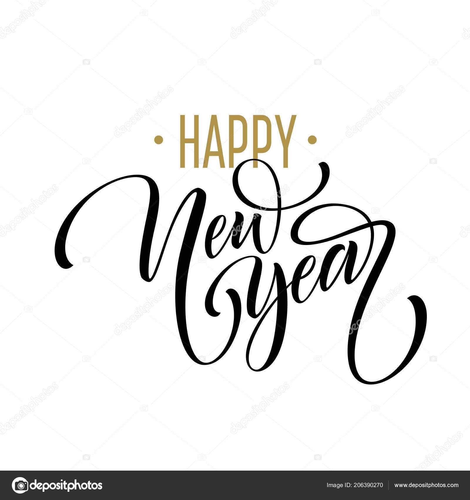 Frohes Neues Jahr Schone Handschriftliche Moderne