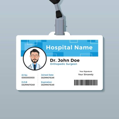 Employee id cardsschool id cardit and software id cardcompany id. Medical Staff Id Badge Free Vector Eps Cdr Ai Svg Vector Illustration Graphic Art