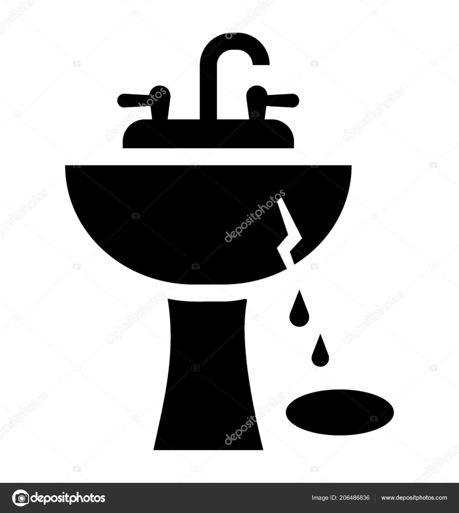 https depositphotos com 206486836 stock illustration broken bathroom washbowl sink two html