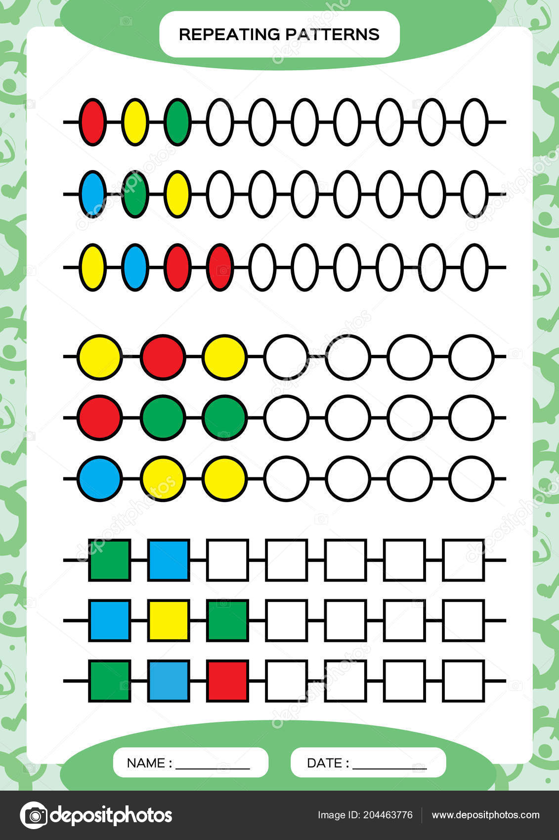 Repeated Patterns Worksheet