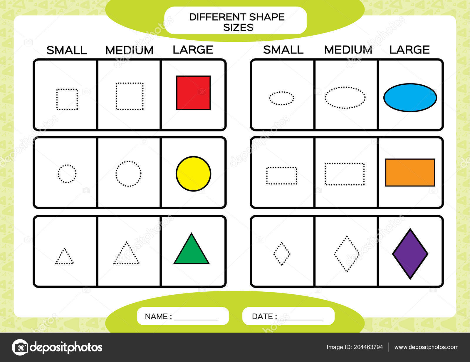 Preschool Drawing Shapes Worksheet