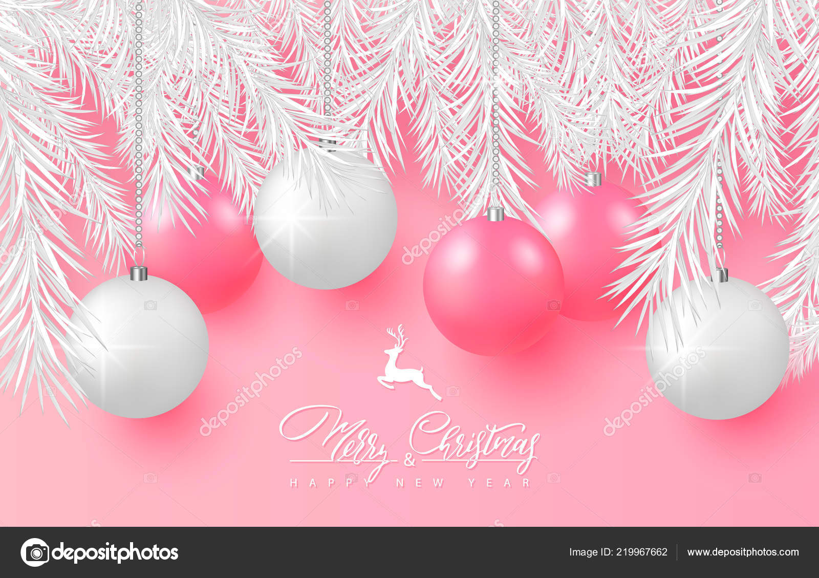 2019 Merry Christmas And Happy New Year Background For