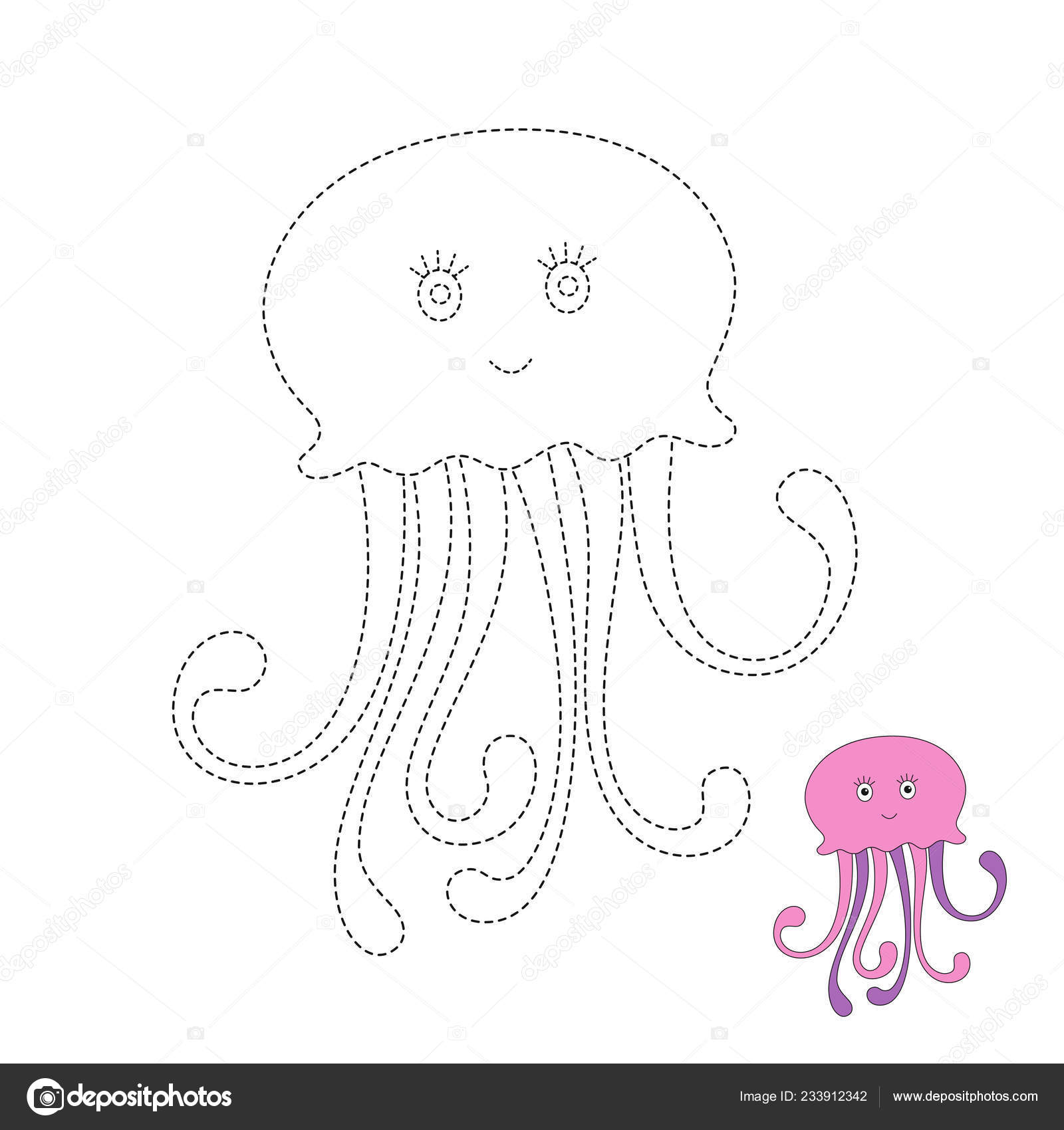 Awesome Jellyfish Drawing Easy For Kids Photos
