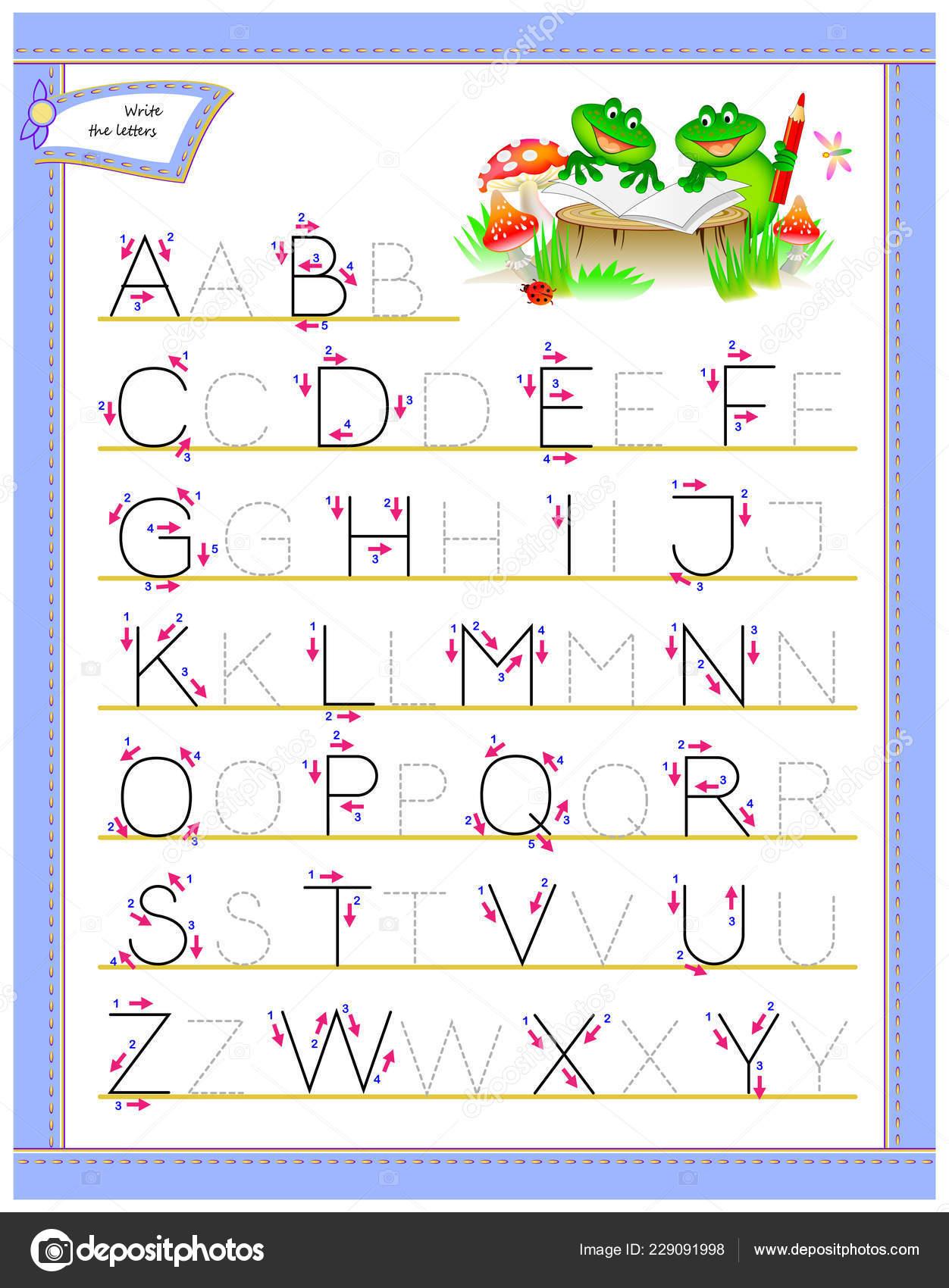 Abc Letters Voor Stuengelse Alfabet Traceren Werkblad