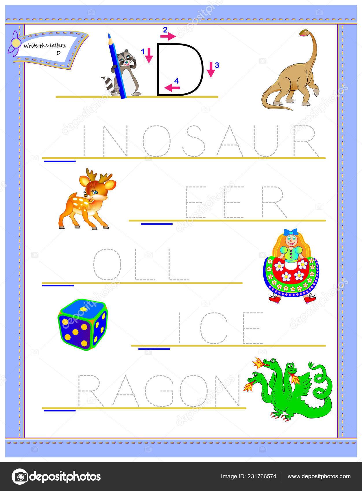Tracing Letter Study English Alphabet Worksheet Kids Logic
