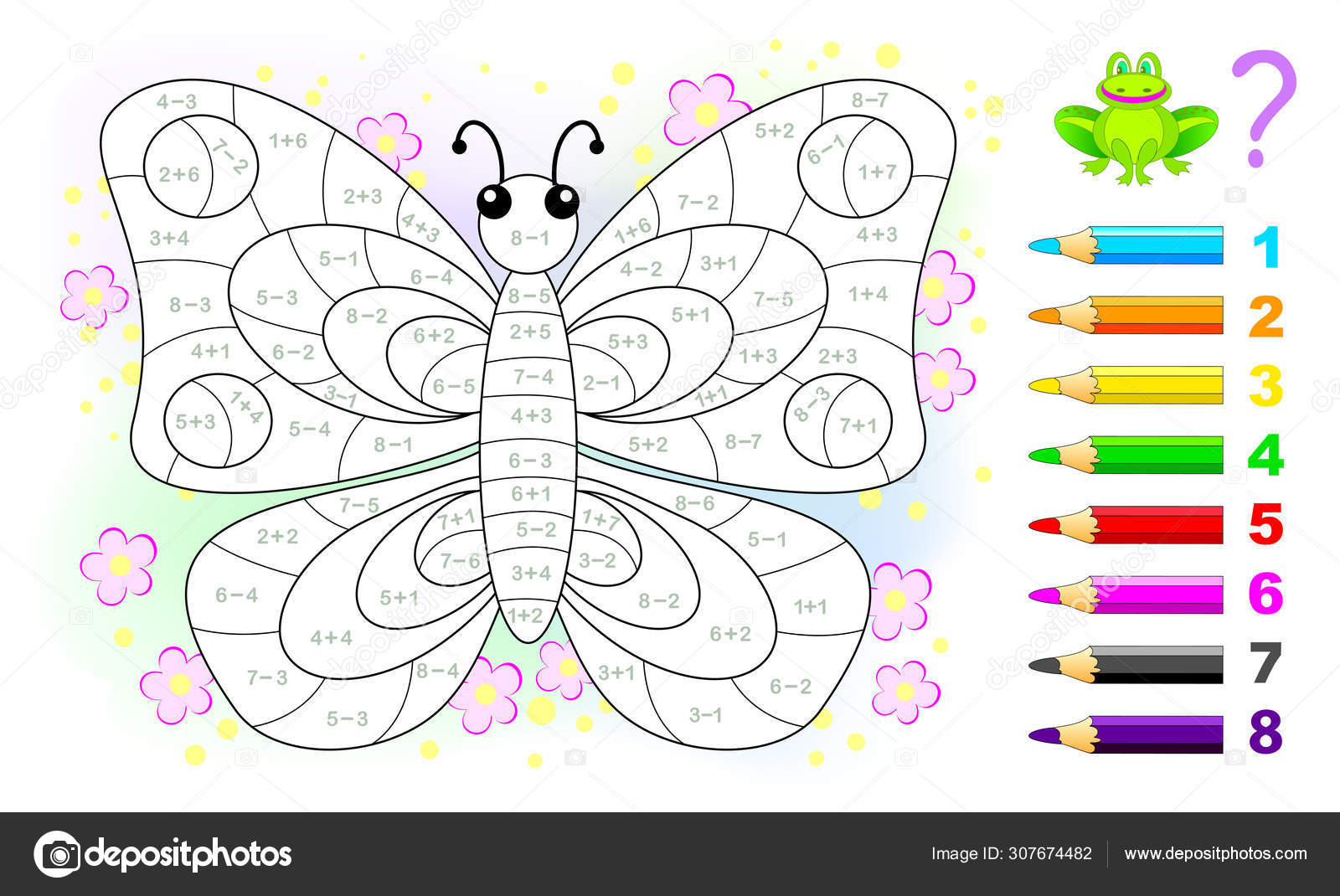 Math Education Children Coloring Book Mathematical