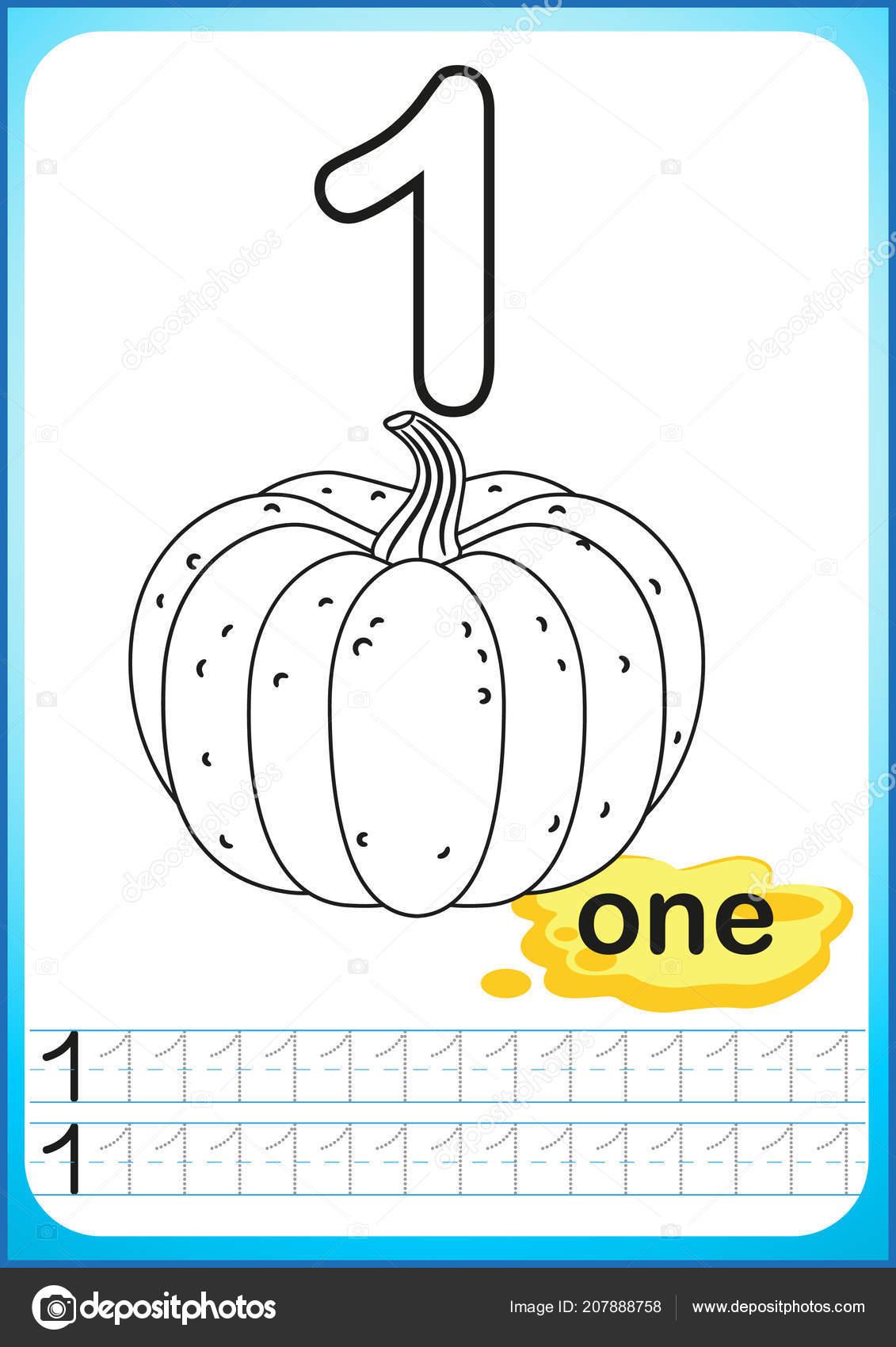Elegant Pumpkin Color By Number Kindergarten