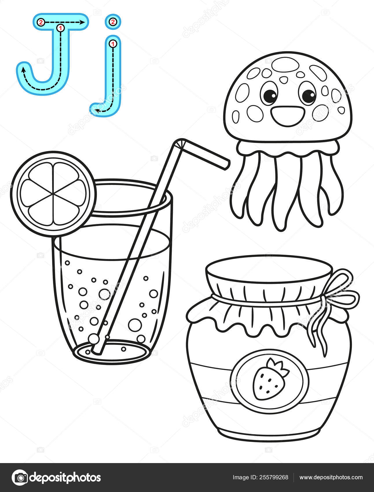 Jellyfish Coloring Pages Preschool