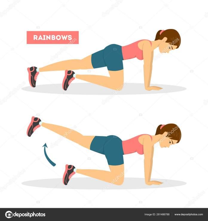 Kết quả hình ảnh cho rainbow exercise