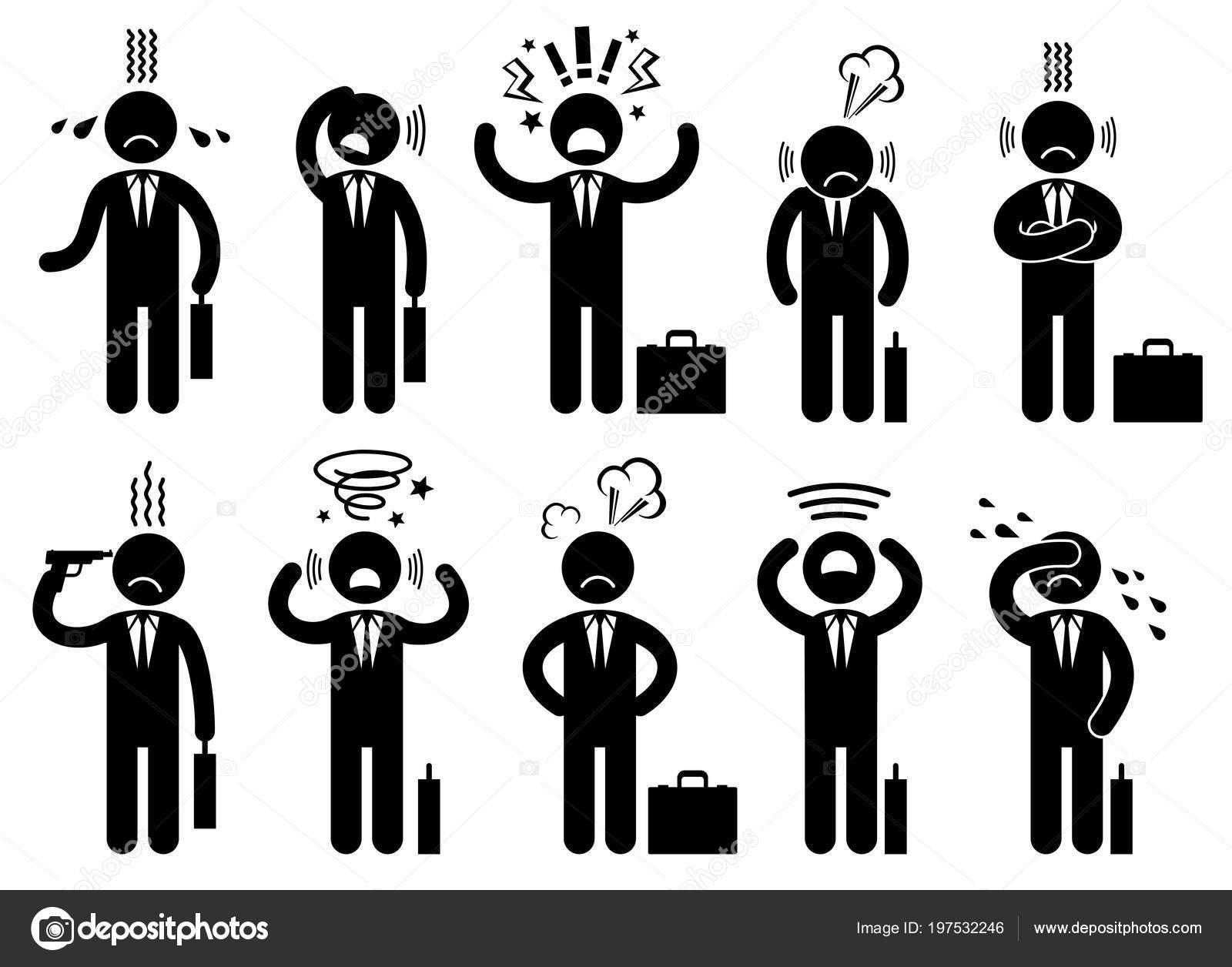 Businessman Stress Pressure Business Mental Issues