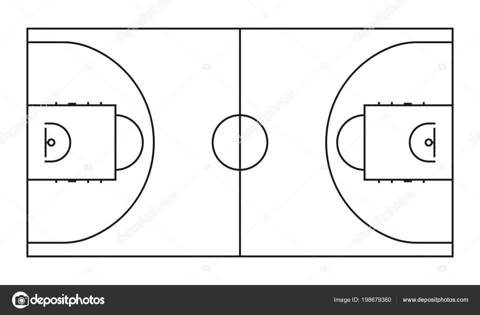 Fondo De Vector De Linea De Corte De Baloncesto Campo De