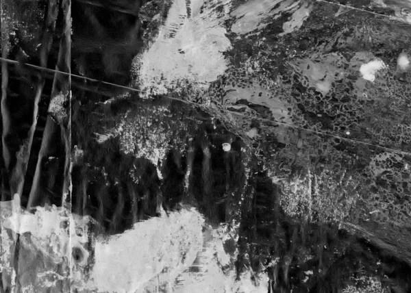 Abstrakte Freihandhintergrunds Marmor Stil Schwarz Und Weiß