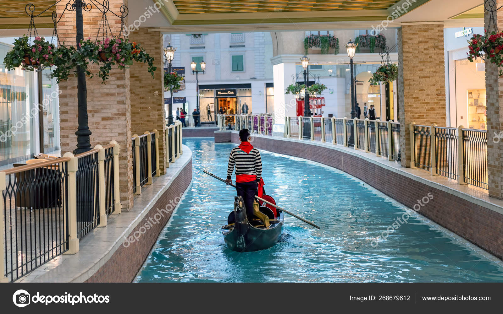 interior scene from villaggio shopping mall in doha with many stores and shops qatar stock editorial photo c canyalcin 268679612