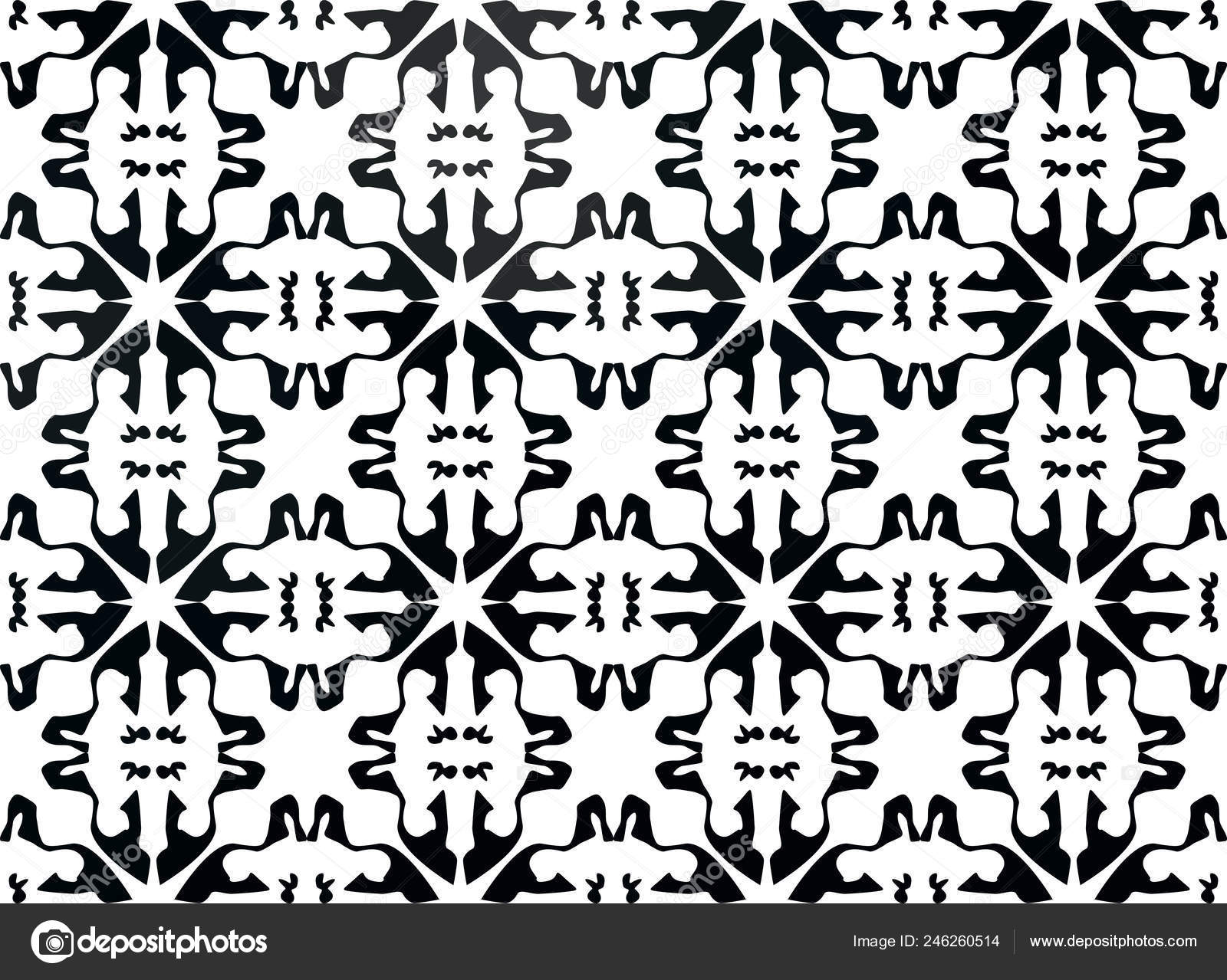 spanish tile pattern moroccan tiles design seamless black white background vector image by c dec925 vector stock 246260514