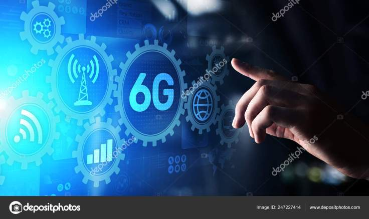 6G New generation telecommunication fast internet and technology ...