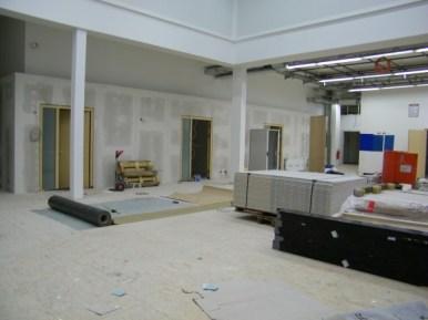 Das Foyer de la danse, noch ganz in weiß.
