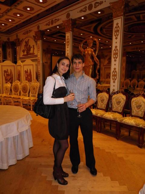 Dinner bei der NBS (Japan Performing Arts Foundation) im 'Golden Room': Krasina Pavlova & Vladislav Marinov