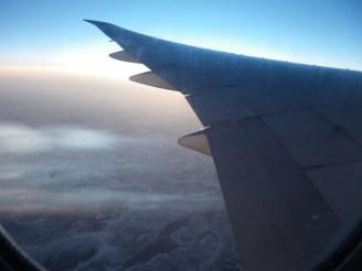 Auf dem Heimflug.