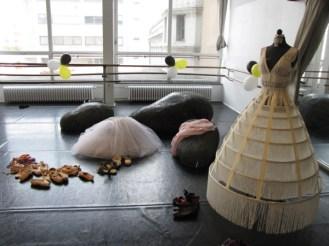 Der toll dekorierte Ballettsaal.