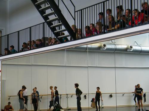 Blick aus dem Ballettstudio...