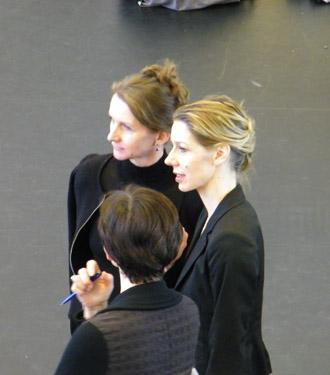 Ballettmeisterinnen unter sich: Korina Stolz-Franke, Alessandra Pasquali, Marzena Sobanska (von hinten).