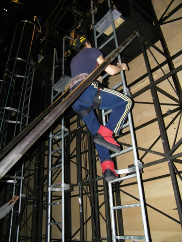 David beim Aufstieg.