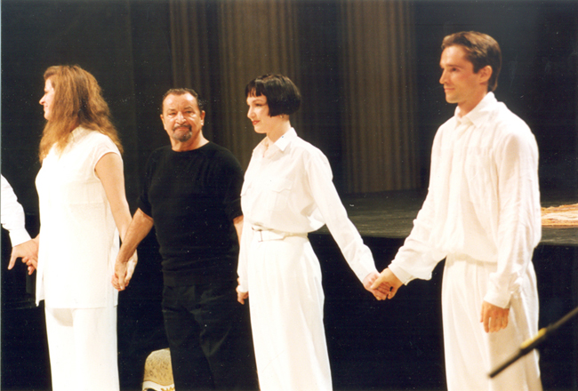 Zusammen mit Katharina Kammerloher, Maurice Béjart und Ralf Stengel.