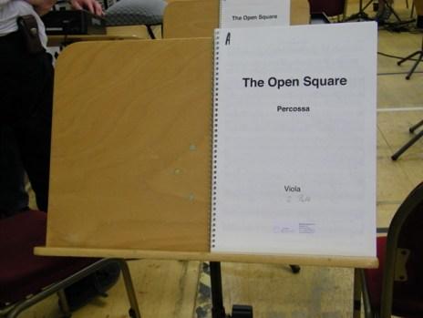 Die Noten zu THE OPEN SQUARE.