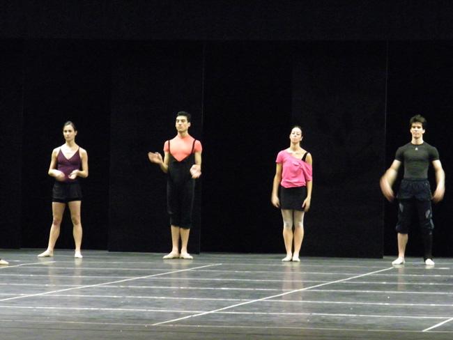Krasina, Kévin, Natalia und Alexander bei der Probe.