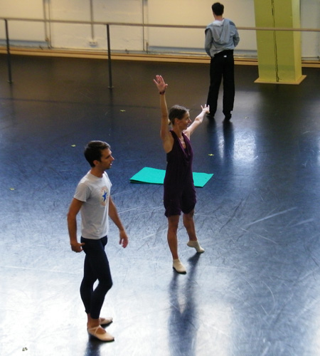 Martin Arroyos bei der Probe mit Alessandra Pasquali.