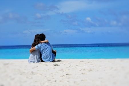 Danielle Muir und Konstantin Lorenz auf den Malediven.