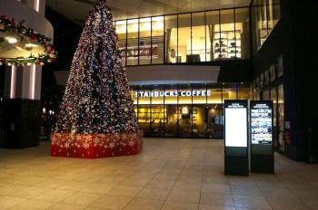 クリスマス時期のスタバ イオンモール旭川駅前店