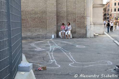 Artista di strada - accanto al Mausoleo di Augusto - Roma