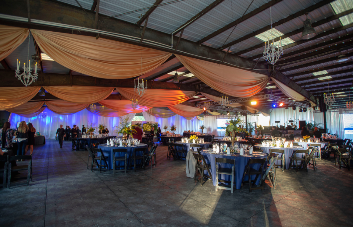 Live Oak Arabians pavilion transformed into an elegant ballroom for the Stabiler Foundation Sizzlin for Seals Soiree